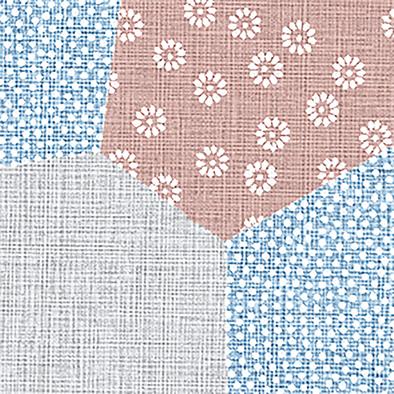 メラミン化粧板 バリエーション(京かたがみ) TJY10147K 4x8 幾何取り(珊瑚色)