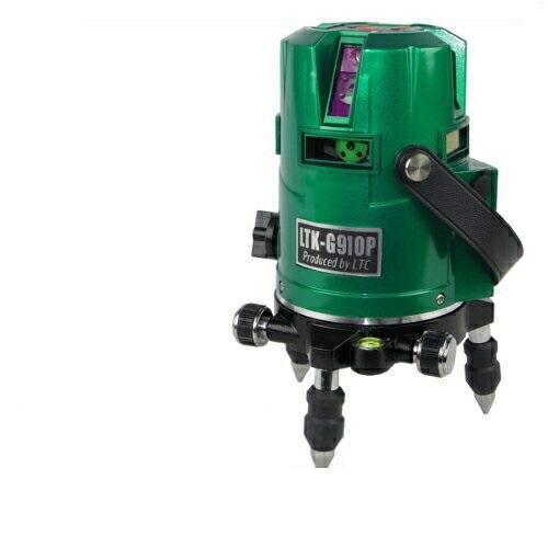 テクノ販売 フルラインプラチナグリーンレーザー墨出し器 LTK-G910P(縦4方向矩・横全周水平ライン・地墨・鉛直十字)