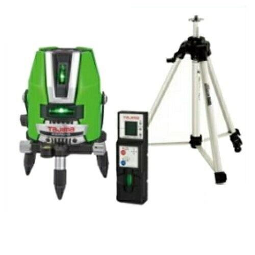 あす楽対応 タジマツール スタンダードグリーンレーザー墨出し器(受光器・三脚セット) ZEROG-KYRSET(縦3方向矩・横110°水平ライン・地墨・鉛直十字)