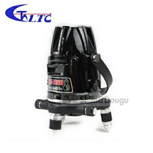 テクノ販売 高輝度レーザー墨出し器「高輝度ラインレーザー」 LST-EB60(縦4方向矩・横120°水平ライン・地墨・鉛直十字)
