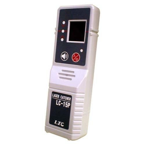ラインの中心±0.5mmを検出する、業界最高精度の精度切替モード付赤色レーザー用受光器 テクノ販売 赤色レーザー墨出し器用 受光器 LC-15P(クランプ付)