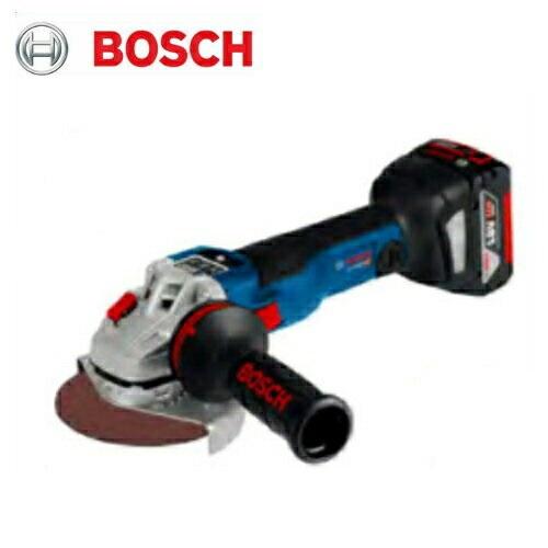 ボッシュ<Bluetoothコネクト機能搭載> 100mmコードレスディスクグラインダ GWS18V-100SC 18V(6.0Ah) フルセット品 (本体・バッテリ・充電器・ケース・コネクティビティチップGCY30-4付)