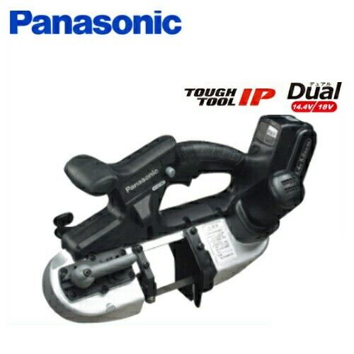 パナソニック Dual(14.4V/18V兼用)充電式ポータブルバンドソー EZ45A5LJ2G-B 18V(5.0Ah)フルセット品 (本体・純正刃・LJタイプバッテリ×2個・充電器・ケース付き)