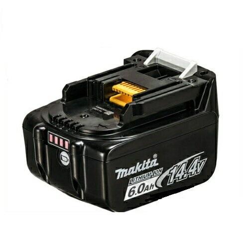 【日本国内正規流通品/純正品】マキタ 14.4V リチウムイオンバッテリ(リチウムイオン電池パック) BL1460B(A-60660) 6.0Ah(アンペア時)(自己故障診断・電池残量表示)