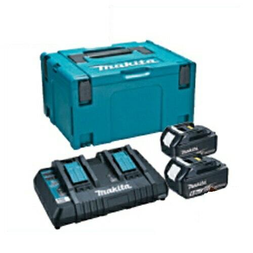 マキタ <お得な2口急速充電器+18V(6.0Ah)バッテリ2個+収納ケースセット>『パワーソースキット1』 A-61226(2口急速充電器DC18RD・バッテリBL1860B×2個・マックパックタイプ3付き)