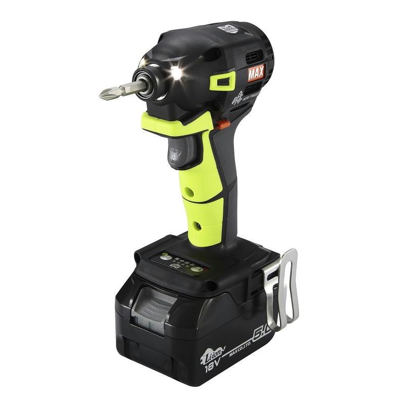 あす楽対応 マックス (2019年秋モデル/限定カラー)PJ-ID153VG-B2C/1850A 充電式インパクトドライバ(ビビットグリーン) 18V(5.0Ah) フルセット品