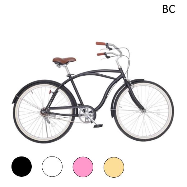 26インチ 自転車 ビーチクルーザー 極太タイヤ BC26 送料無料