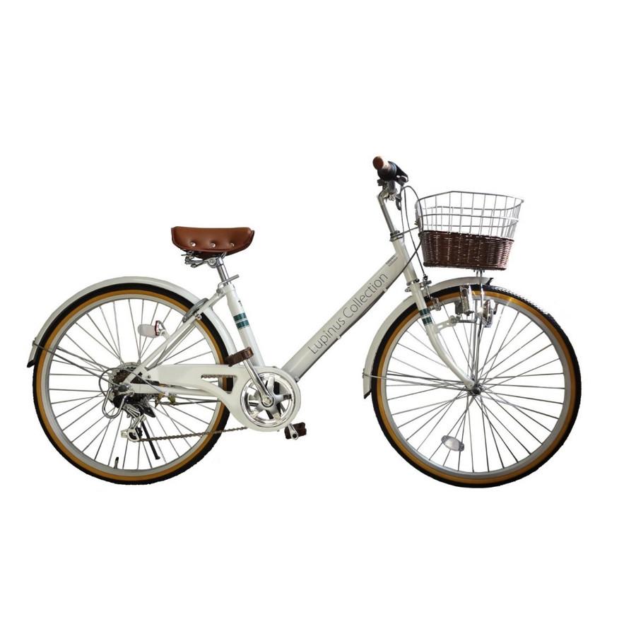 自転車 24インチ Vフレーム シティサイクル ママチャリ Lupinusルピナス LP-246VD