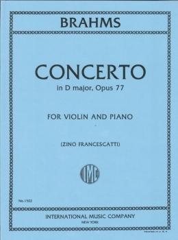 楽譜 GYS00072704 ブラームス : バイオリン協奏曲 ニ長調 Op.77/フランチェスカッティ編 (ヨアヒムとアウアーに / インターナショナル・ミュージック社
