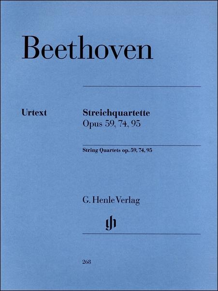 GYW00073719 ベートーヴェン 弦楽四重奏曲集 第2巻: Op.59 「ラズモフスキー」、Op.74 「ハープ」、Op.95 / ヘンレ社(ヤマハ)