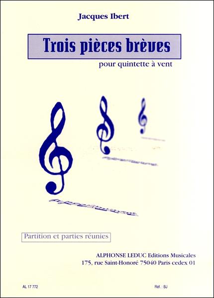 楽譜 GYW00077580イベール 木管五重奏のための3つの小品 / ルデュック社