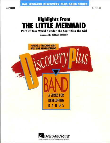 楽譜 輸入Highlights from The Little Mermaid/「リトル・マーメイド」より ハイライトCD付 / ウィンズ・スコア