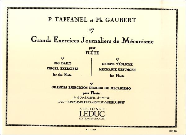 楽譜 タファネル&ゴーベール:フルートのための17のメカニズム日課大練習 ルデュック社ライセンス版 / ヤマハミュージックメディア