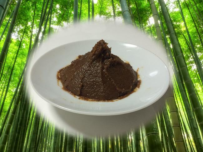 【しま村の黒豆味噌500g】 味噌 みそ 無添加 味噌汁 黒豆味噌 500g 京都 しま村