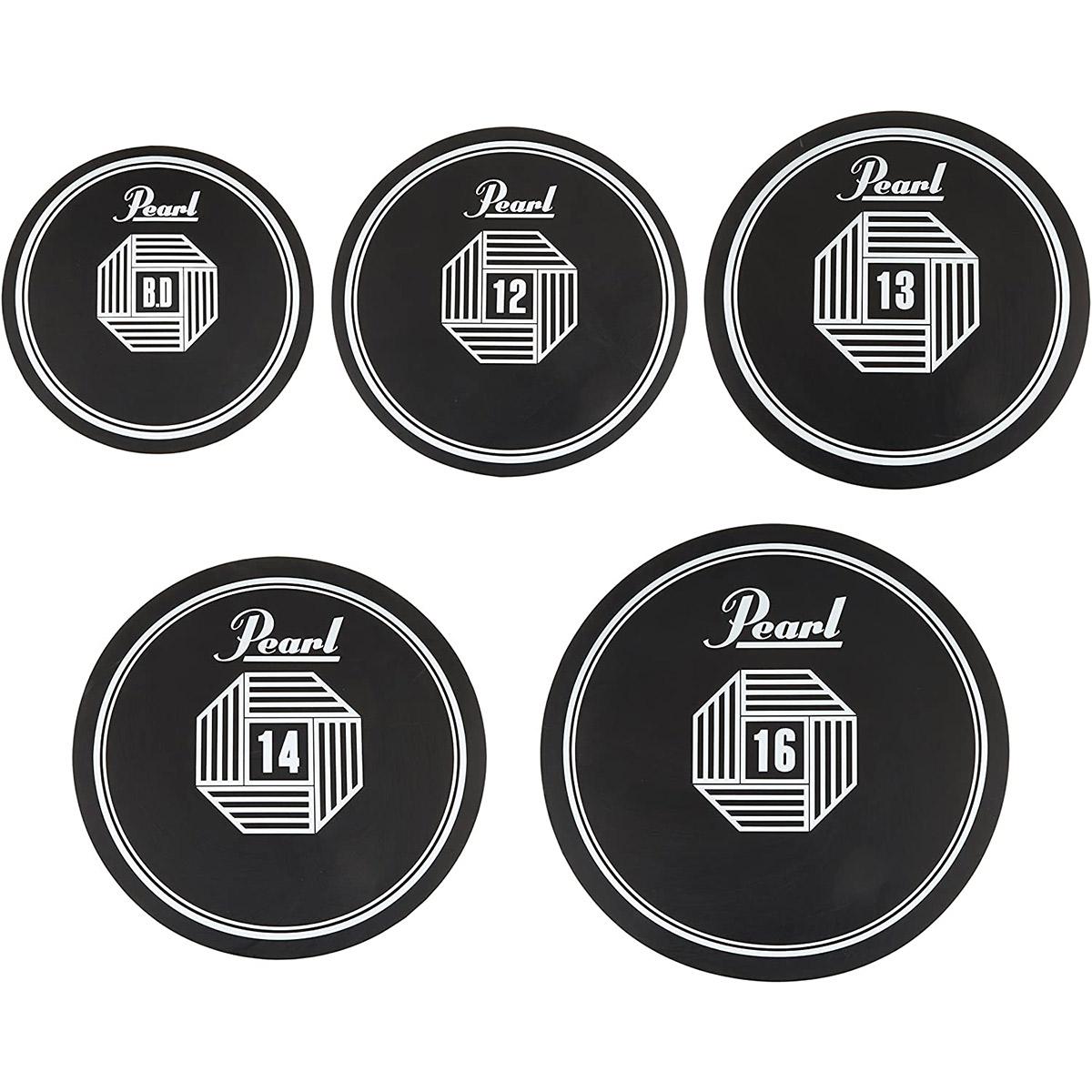 Pearl RPS-50 プラクティスラバーパッド5点セット 【パール】