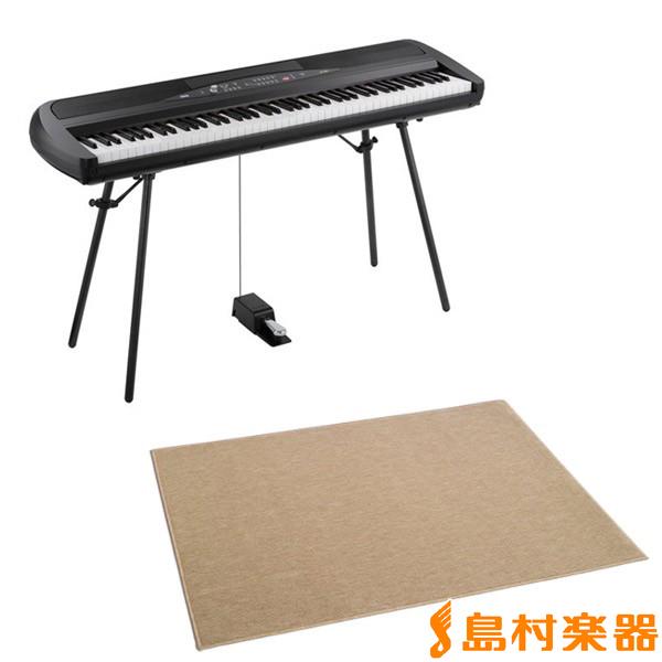 KORG SP-280 BK 電子ピアノ 88鍵盤 カーペット(大)セット 【コルグ SP280】【別売り延長保証対応プラン:E】