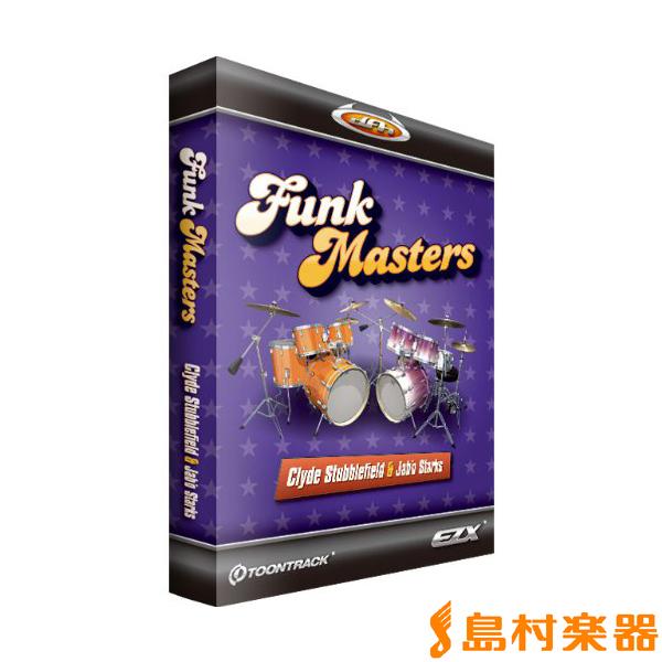 TOONTRACK EZX FUNKMASTERS / BOX プラグインソフト ドラム音源 【EZdrummer拡張音源】 【トゥーントラック EZXFM】【国内正規品】