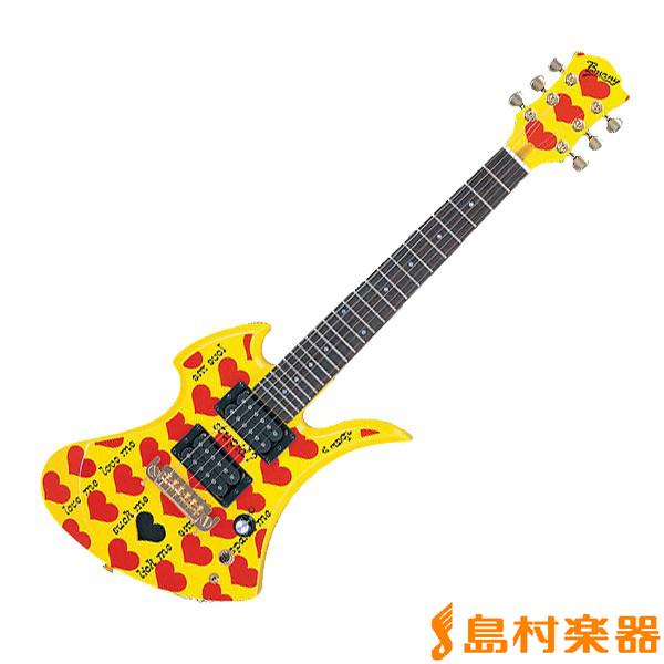 【バーニー】 Jr. Burny スピーカー内蔵ミニエレキギター HEART YELLEW