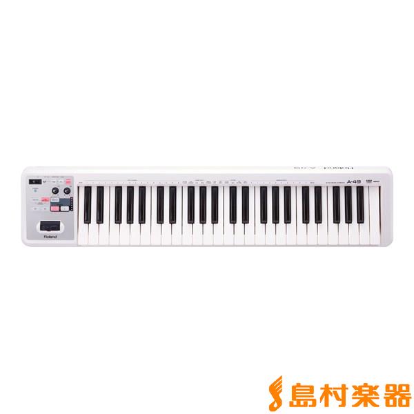 Roland A-49 (ホワイト) MIDIキーボード・コントローラー 49鍵盤 【ローランド A49】