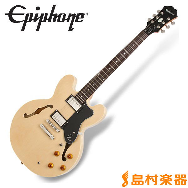 Epiphone Dot Natural ドット セミアコ エレキギター 【エピフォン】