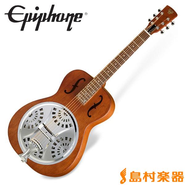 Epiphone Dobro Hound Dog Round Neck Vintage Brown ハウンドドッグ リゾネイターギター 【エピフォン】