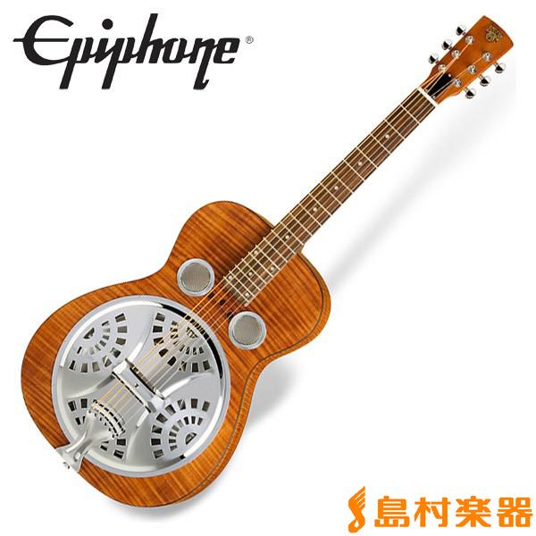 Epiphone Dobro Hound Dog Deluxe Round Neck Vintage Brown ハウンドドッグ リゾネイターギター 【エピフォン】