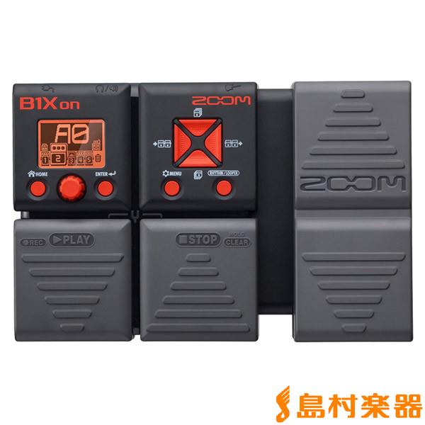 ZOOM B1Xon エクスプレッションペダル搭載ベース用マルチエフェクター 【ズーム】