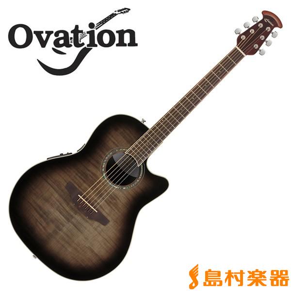Ovation Celebrity CS24P Transparent Black Flame Mid Depth エレアコギター 【オベーション セレブリティ】