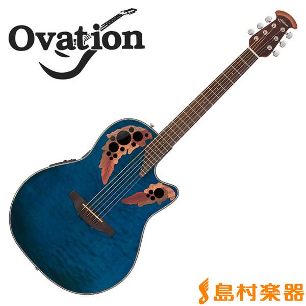 Ovation Celebrity CE44P 8TQ Blue Transparent Quilt Mid Depth エレアコギター 【オベーション セレブリティ】
