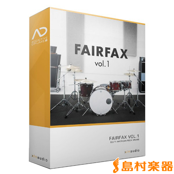 XLN Audio AddictiveDrums 2 ( AD2 ) ADpak FAIRFAX vol.1 プラグインソフト ドラム音源 【XLNオーディオ】【国内正規品】
