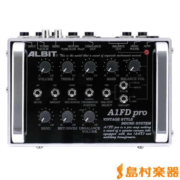 ALBIT A1FD pro プリアンプ【ギター/ベース兼用】 【アルビット】【受注生産 納期3週間程度 ※注文後のキャンセル不可】