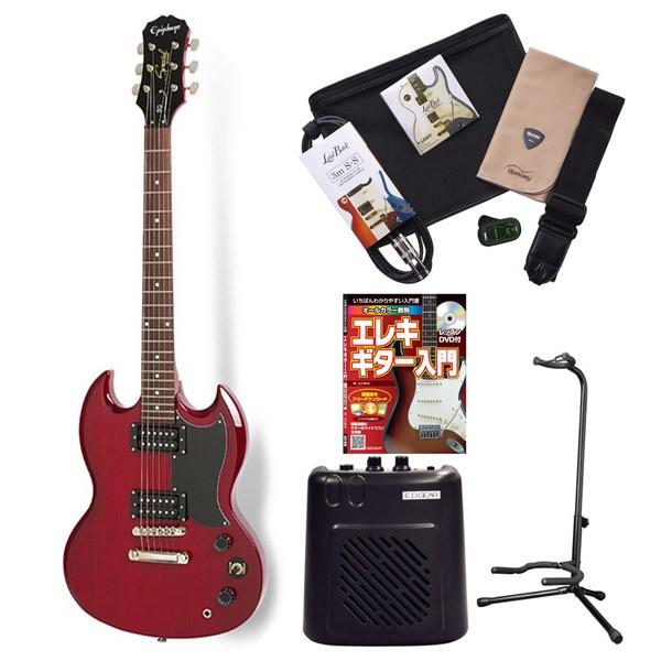 Epiphone SGSpl CH エレキギター 初心者 セット SG ミニアンプ 入門セット 【エピフォン】