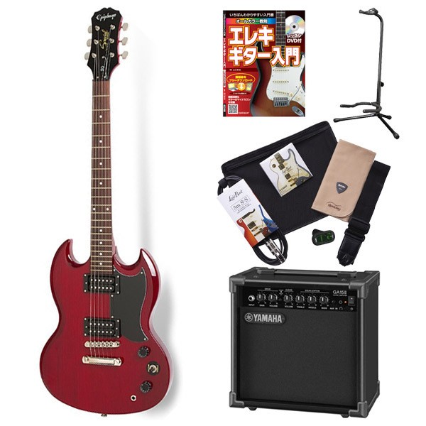 Epiphone SGSpl CH エレキギター 初心者 セット SG ヤマハアンプ 入門セット 【エピフォン】