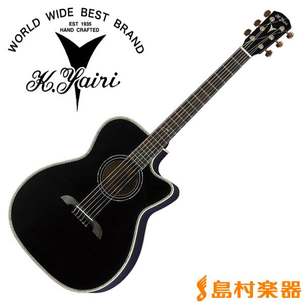 【ストラップ&ピックプレゼント中♪】 K.Yairi WY-2 BK エレアコギター エレクトリックシリーズ 【Kヤイリ WY-2】