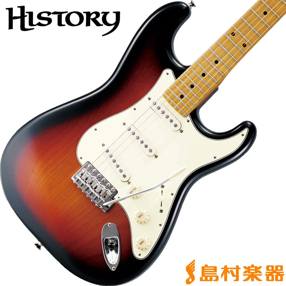 HISTORY TH-SV/M 3TS(3トーンサンバースト) ストラトキャスター エレキギター 【ヘリテイジウッド】【サークルフレッティングシステム】【日本製】 【ヒストリー THSV/M】【生産完了品 在庫限り】