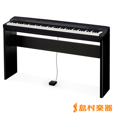 CASIO PX160BK Privia 電子ピアノ プリヴィア PX-160BK 専用スタンドセット 【カシオ】【別売り延長保証対応プラン:E】