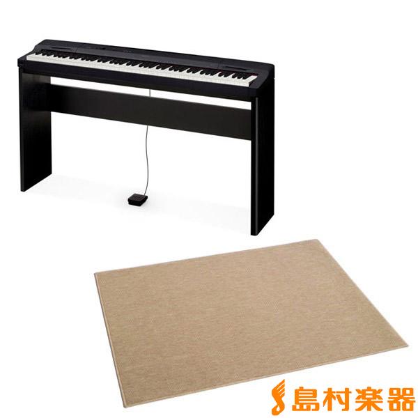 CASIO PX160BK Privia 電子ピアノ プリヴィア PX-160BK 専用スタンド+カーペット(大)セット 【カシオ】【別売り延長保証対応プラン:E】