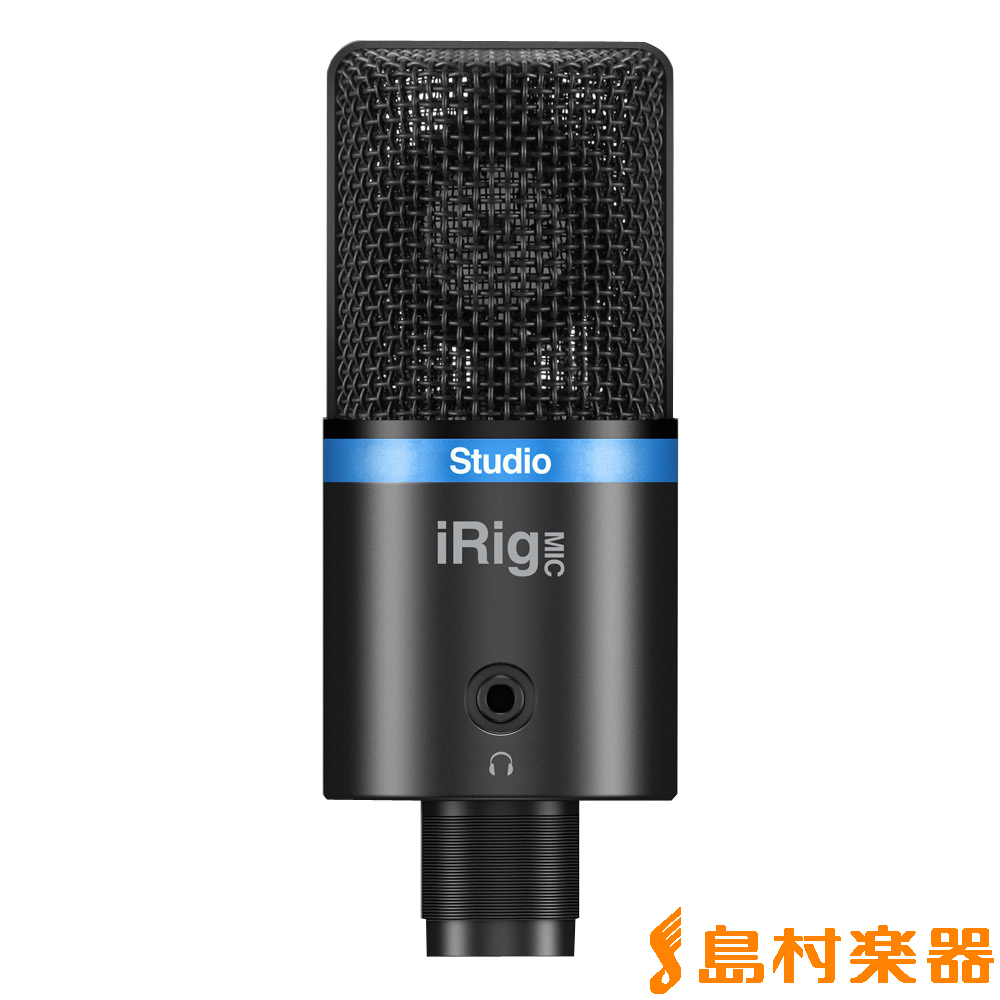 IK Multimedia iRig Mic Studio ブラック iOS/Android/PC対応マイク 【IKマルチメディア】【国内正規品】