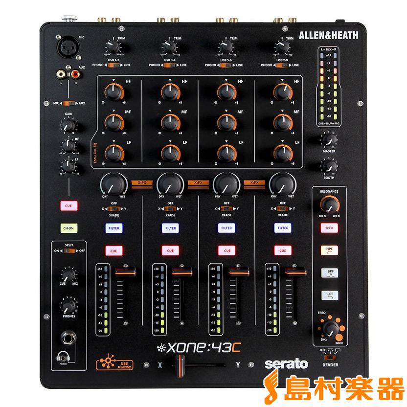 Allen & Heath Xone:43C DJミキサー Serato対応 【アレン&ヒース】【国内正規品】