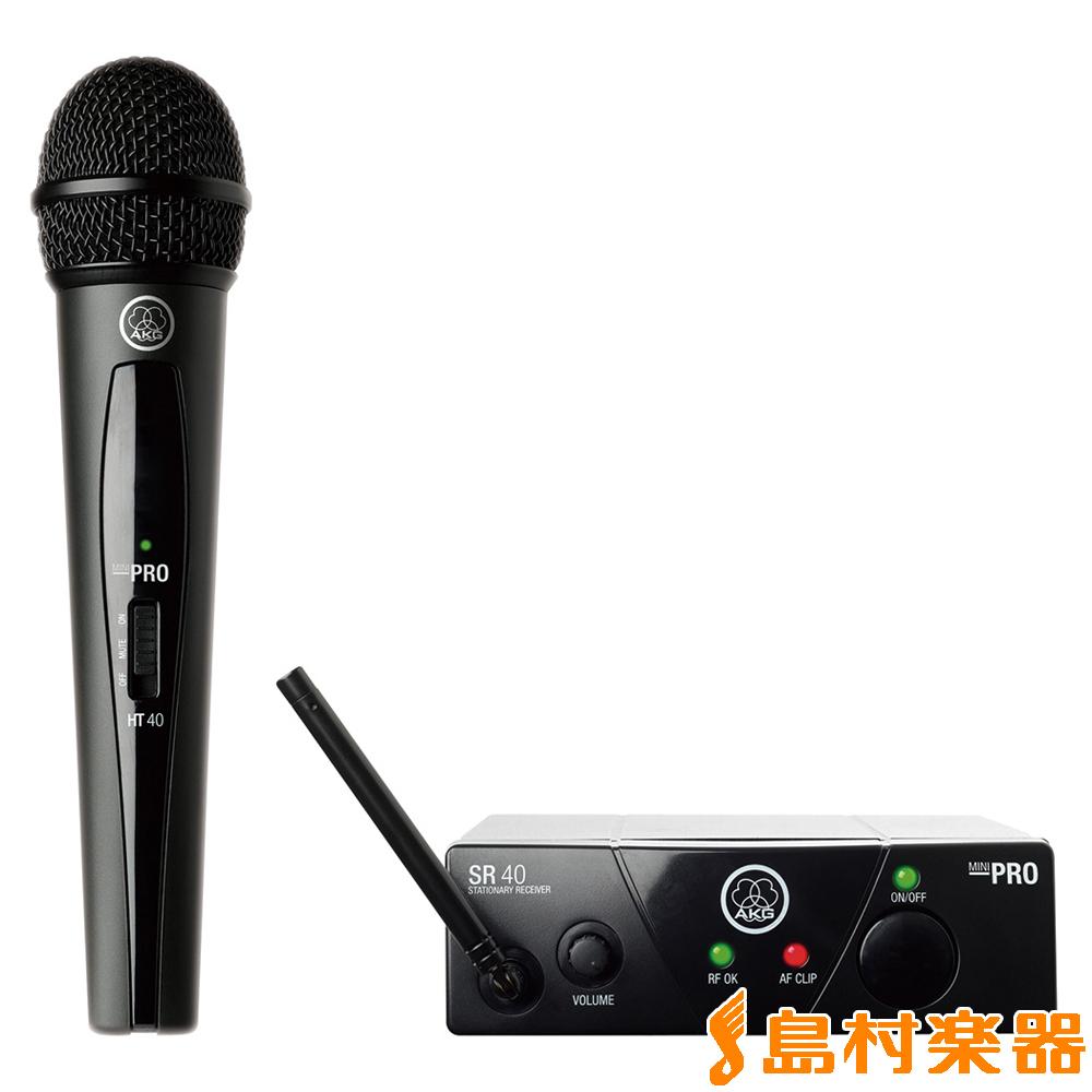 AKG WMS40 PRO MINI/VO 1 1チャンネルB帯ワイヤレスシステム