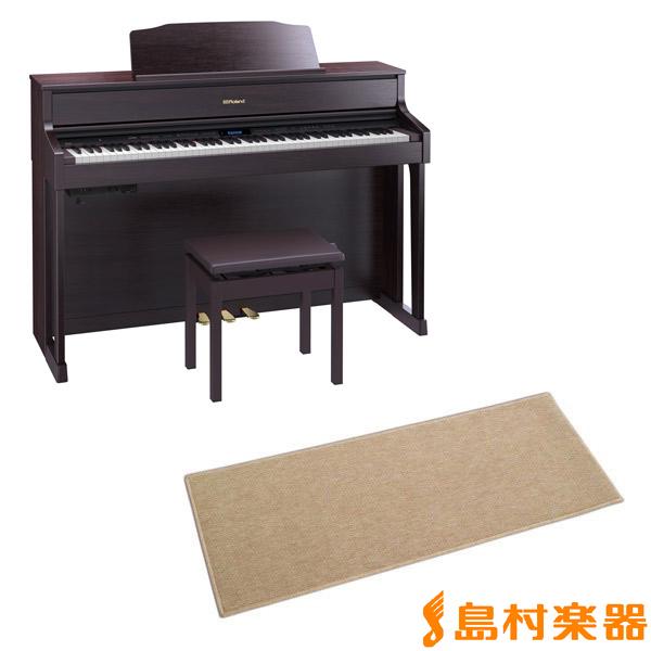 Roland HP605 CRS カーペット(小)セット (クラシックローズウッド調仕上げ) 電子ピアノ 88鍵盤 【ローランド】【配送設置無料・代引き払い不可】【別売り延長保証対応プラン:C】