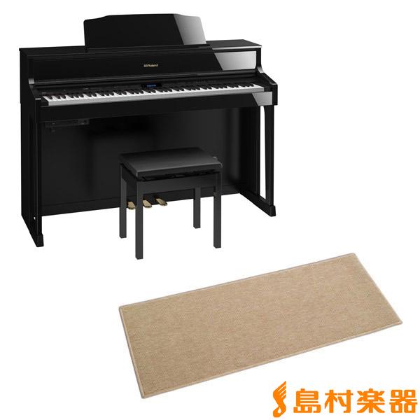 Roland HP605 PES カーペット小セット (黒塗鏡面艶出し塗装仕上げ) 電子ピアノ 88鍵盤 【ローランド HP605+CPT100M】【配送設置無料・代引き払い不可】【別売り延長保証対応プラン:C】