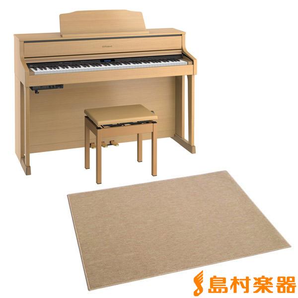 Roland HP605 NBS カーペット(大)セット 電子ピアノ 88鍵盤 【ローランド HP605+CPT300L】【配送設置無料・代引き払い不可】【別売り延長保証対応プラン:C】