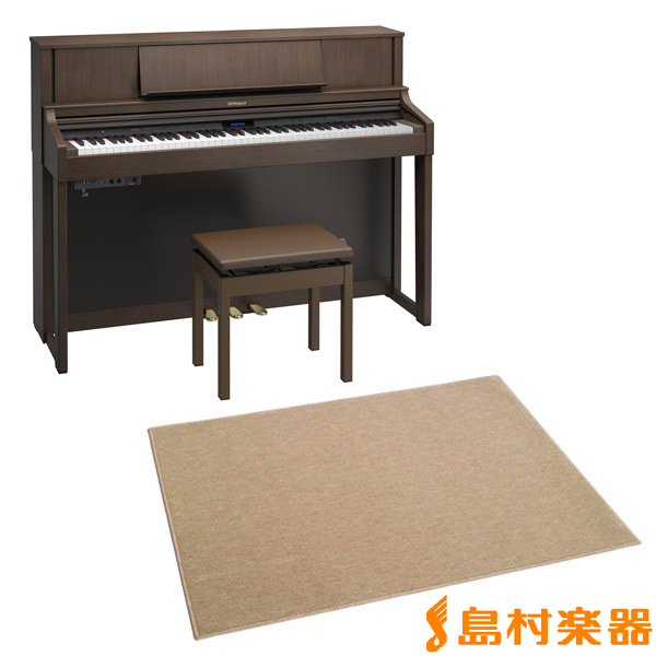 Roland LX-7 BWS カーペット大セット (ブラウンウォールナット調仕上げ) 電子ピアノ 88鍵盤 【ローランド LX7+CPT300L】【配送設置無料・代引き払い不可】【別売り延長保証対応プラン:P】