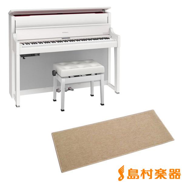 Roland LX-17 PWS カーペット小セット (白塗鏡面艶出し塗装仕上げ) 電子ピアノ 88鍵盤 【ローランド LX17+CPT100M】【配送設置無料・代引き払い不可】【別売り延長保証対応プラン:A】