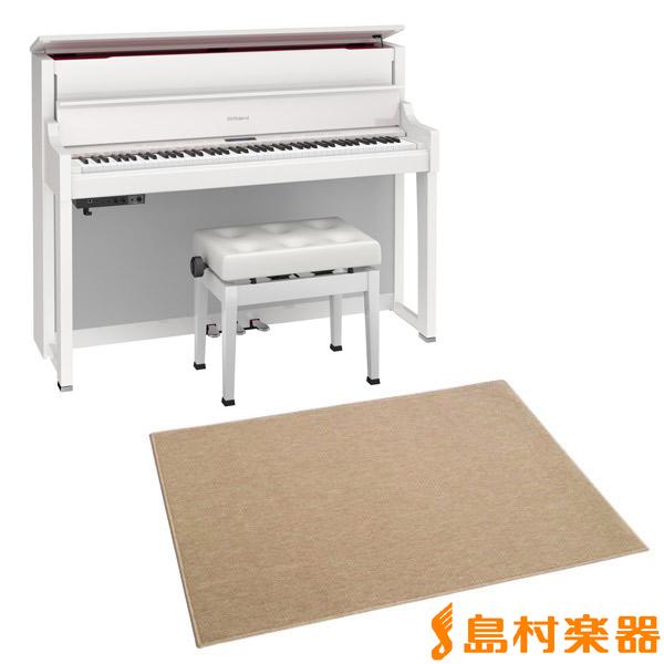 Roland LX-17 PWS カーペット大セット (白塗鏡面艶出し塗装仕上げ) 電子ピアノ 88鍵盤 【ローランド LX17+CPT300L】【配送設置無料・代引き払い不可】【別売り延長保証対応プラン:A】