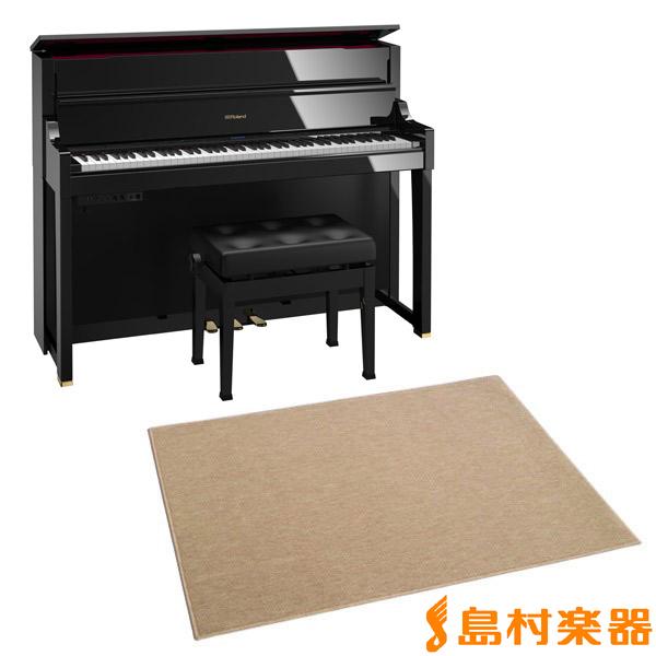 Roland LX-17 PES カーペット大セット (黒塗鏡面艶出し塗装仕上げ) 電子ピアノ 88鍵盤 【ローランド LX17+CPT300L】【配送設置無料・代引き払い不可】【別売り延長保証対応プラン:A】