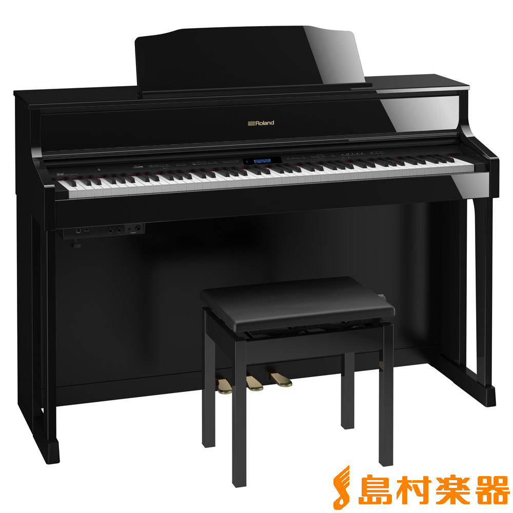 Roland HP605 PES (黒塗鏡面艶出し塗装仕上げ) 電子ピアノ 88鍵盤 【ローランド】【配送設置無料・代引き払い不可】【別売り延長保証対応プラン:C】