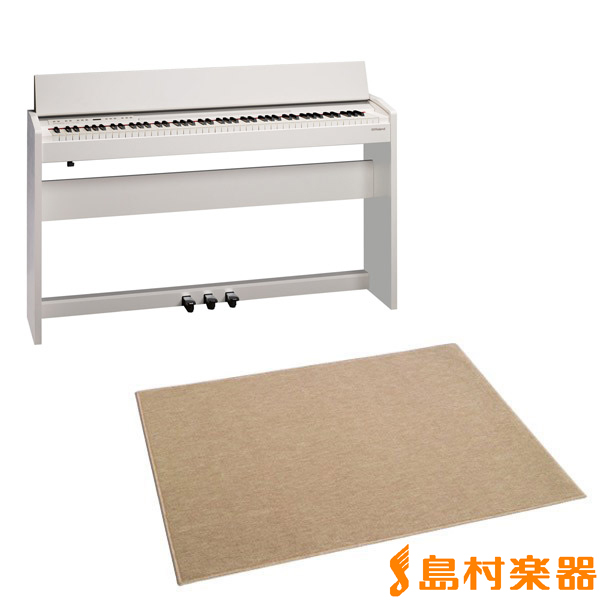 Roland F-140R WH カーペット(大)セット (ホワイト) 電子ピアノ 88鍵盤 【ローランド F140R】【配送設置無料・代引き払い不可】【別売り延長保証対応プラン:D】