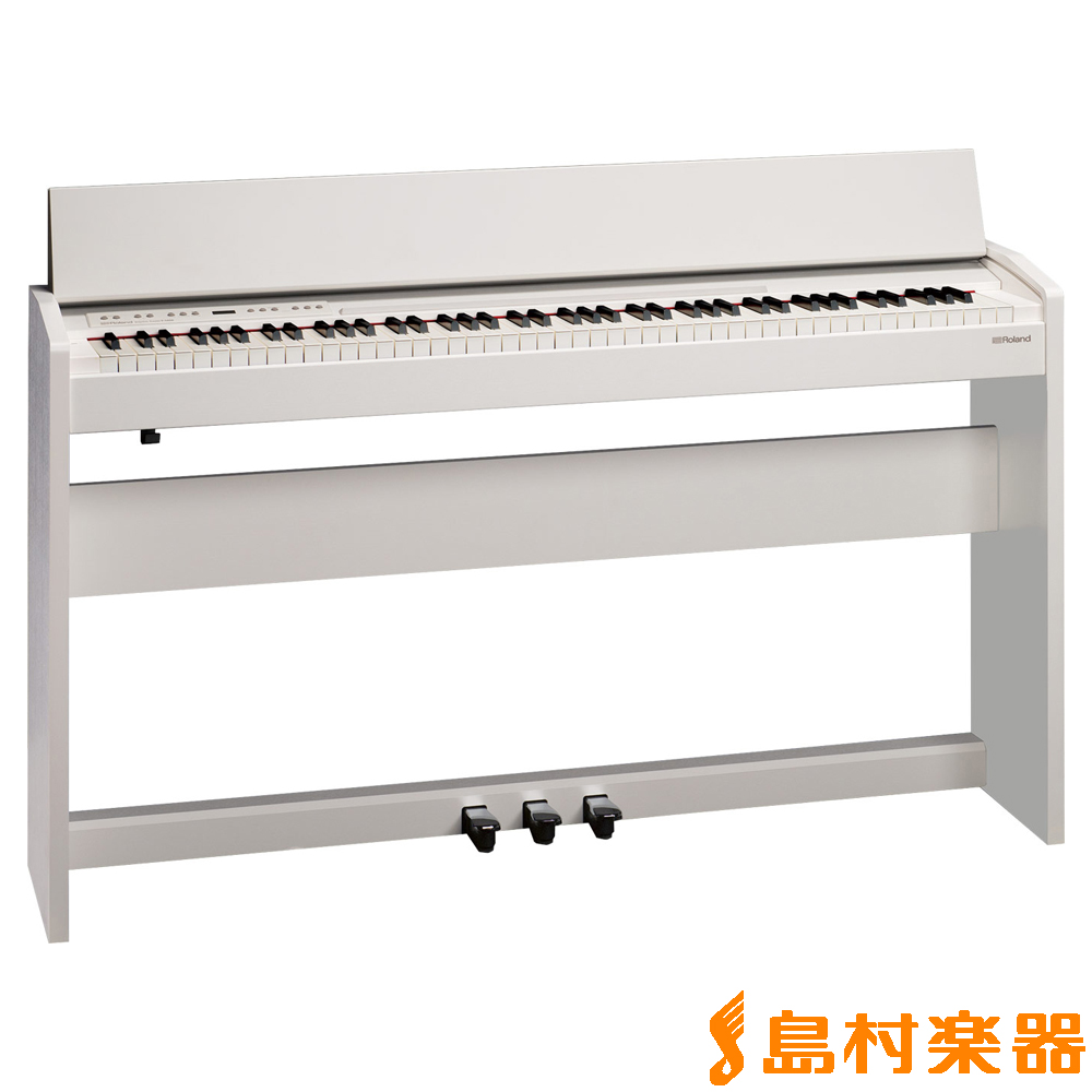 Roland F-140R WH (ホワイト) 電子ピアノ 88鍵盤 【ローランド F140R】【配送設置無料・代引き払い不可】【別売り延長保証対応プラン:D】